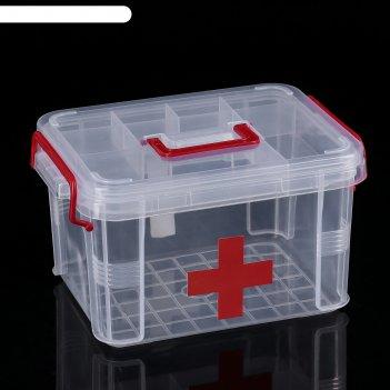 Аптечка 24х17х13 см, прозрачный корпус