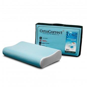 Анатомическая подушка ortocorrect termogel l    с гелевой вставкой  58х38,