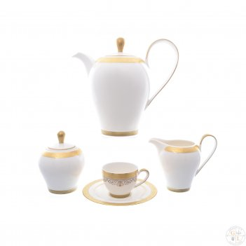Кофейный сервиз на 6 персон falkenporzellan maxim round- lillet gold 9 пре