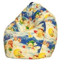 Кресло-мешок xl, ткань поплин, принт ангелочки