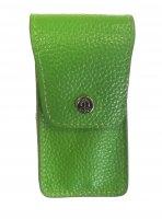 Маникюрный набор gd, 3 предмета. футляр: натур.кожа, цвет зеленый.