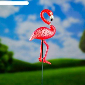 Штекер садовый, декоративный фламинго 60см, микс