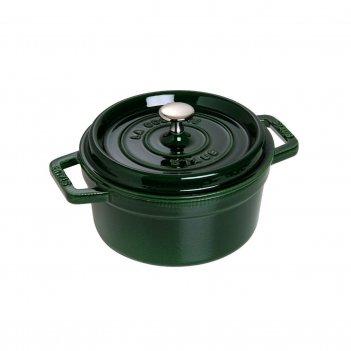 Кокот круглый, 26 см, 5,2 л, зеленый базилик
