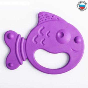 Прорезыватель силиконовый «рыбка», цвет микс