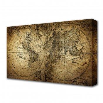 Картина на холсте карта мира