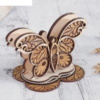 Салфетница «бабочка», 15x9,5x10 см, береста, фанера