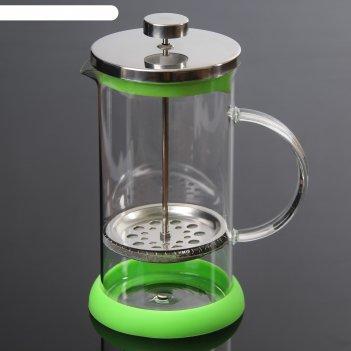 Френч-пресс 1 л келли, цвет зеленый