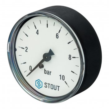 Манометр stout sim-0009-631008, аксиальный, dn63, g1/4