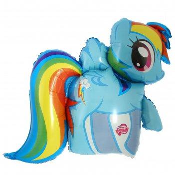Шар фольгированный my little pony радужный, 25