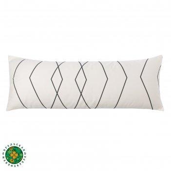 Подушка декоративная этель «орнамент (вид 1)» 30x80 ± 3 см, цвет белый, са