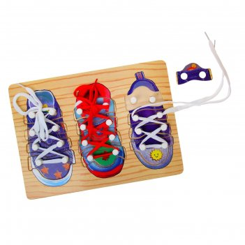 Рамка-вкладыш 3 ботинка со шнуровкой