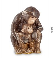 Smt-27 шкатулка обезьяна с детенышем (nobility)