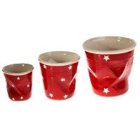 Набор кашпо стакан 3 шт (10x10,13x13,16x16 см), красный