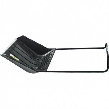 Движок для уборки снега пластиковый 640 х 700 мм, 2 части (ковш, стальная
