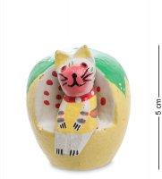 28-015 статуэтка mini кошка на диване тыква (мин. 10 шт.)