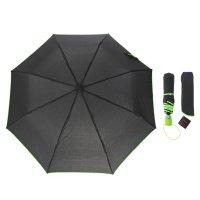 Зонт полуавтомат акцент, полуавтоматический, r=47см, цвет чёрный/зелёный