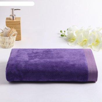 Полотенце велюровое майами 086 100х150 см, фиолетовый+лаванда, хлопок 100%