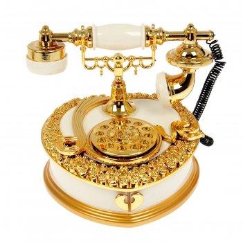 Шкатулка музыкальная механическая телефон 16,5хх20х18 см