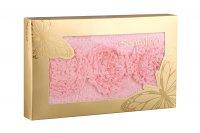 Полотенце 50*90 пион, 360г/м2, в коробке, розовы...