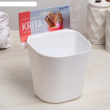 Полка навесная малая krita, цвет снежно-белый