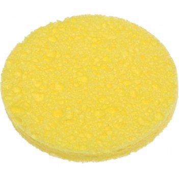 Спонж dewal beauty для снятия макияжа, желтый, 85 x 85 x 10 мм, 2 шт