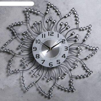 Часы настенные, серия: интерьер, цветок, d=59 см