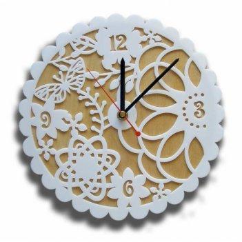 Часы для кухни кружево 124 размер 26х26см