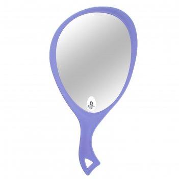 Зеркало с ручкой, овальное, одностороннее, микс