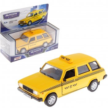 Модель машины такси «lada 2104», масштаб 1:36