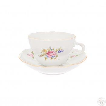 Чайная пара dubi цветочный мотив 450 мл