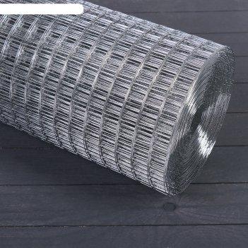 Сетка оцинкованная, сварная 1 x 25 м, ячейка 25 x 25 мм, d = 1 мм, металл