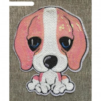 Аппликация «щенок средний», размер 18x14,5 см