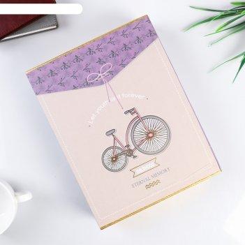 Фотоальбом магнитный 20 листов фотоаппарат/велосипед в коробке микс 26,5х2