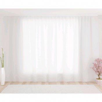 Тюль, размер 290 x 260 см, белая
