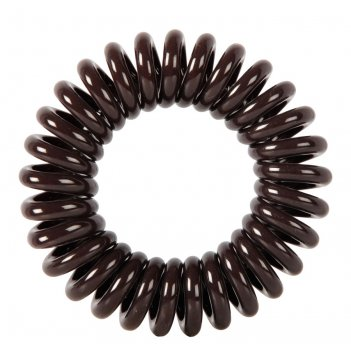 Резинки для волос dewal beauty пружинка, цвет коричневый (3 шт