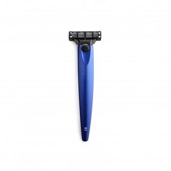 Бритва bolin webb r1, синий металлик, совместим с gillette mach3
