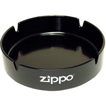 Пепельница zippo, долговечный пластик, чёрная с фирменным логотипом, диаме