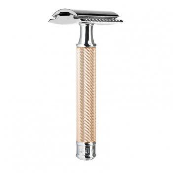 Т-образная бритва, розовое золото, closed comb
