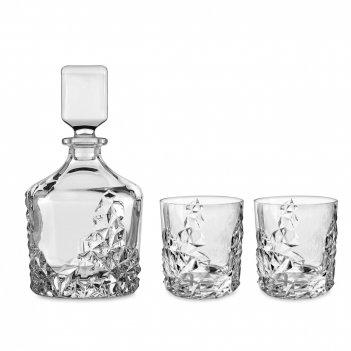 Набор для виски: штоф, объем: 750 мл и 2 стакана, объем: 365 мл, материал: