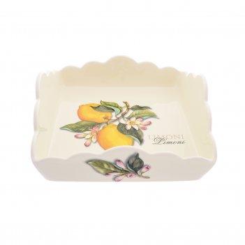 Салфетница квадратная 22см artigianato ceramico лимоны