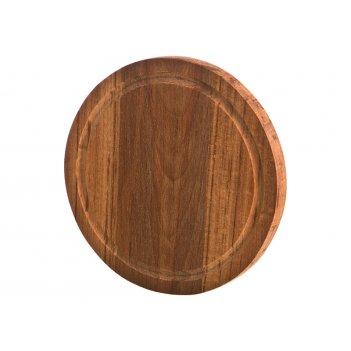 Доска разделочная деревянная круглая бук диаметр=19 см. толщина=2 см. (кор