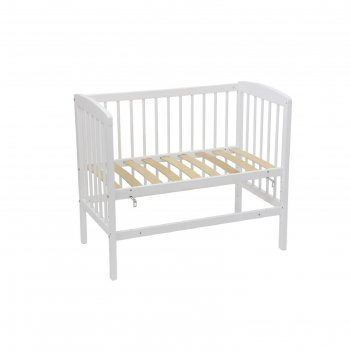Кроватка приставная polini kids simple 100,  50 х 90 см, .белый