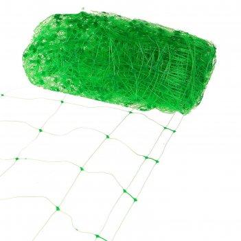 Сетка садовая, 2 x 10 м, ячейка 15 x 17 см, зелёная