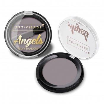 Тени для век art-visage angels, тон 04 серый металлик