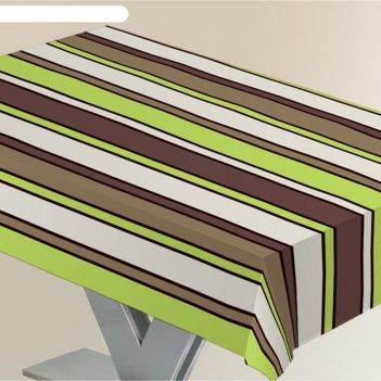 Скатерть alba линии, 140х180 см, зеленый