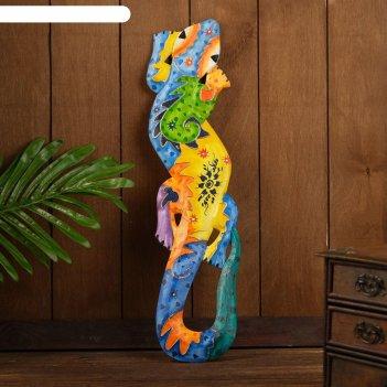 Панно настенное геккон джунгли 11х1,1х50 см