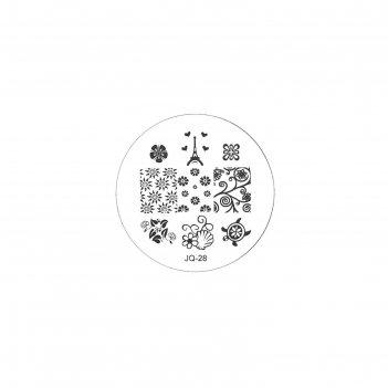 Трафарет металлический для стемпинга tnl малый, эйфелева башня