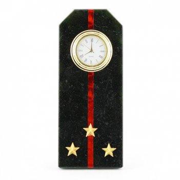 Часы погон старший лейтенант мп вмф камень змеевик