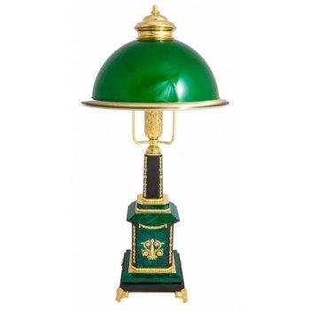 Лампа настольная премьер-министр из малахита