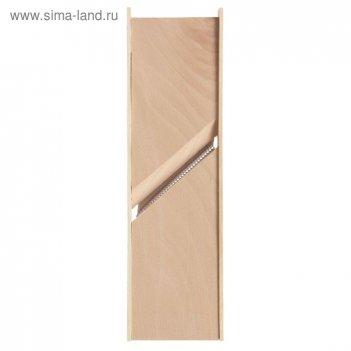 Терка-шинковка деревянная для моркови